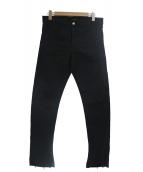 ADAMITE(アダマイト)の古着「ステッチワークカットオフジーンズ」|ブラック