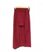 3.1 phillip lim(3.1 フィリップリム)の古着「ベルトロングスカート」|レッド