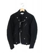 BEAUTY&YOUTH(ビューティアンドユース)の古着「モールスキンライダースジャケット」|ブラック