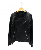THE TWELVE(ザトゥエルブ)の古着「ノーカラーレザージャケット」 ブラック
