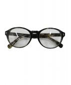 JOHN LAWRENCE SULLIVAN(ジョンローレンスサリバン)の古着「眼鏡フレーム」|ブラック×ベージュ