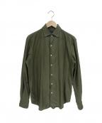 TOMORROWLAND(トゥモローランド)の古着「コットンカラミワンピースカラーシャツ」|カーキ