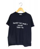 Engineered Garments(エンジニアードガーメンツ)の古着「別注バックミラーTシャツ」|ネイビー