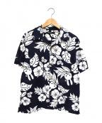 CUNE(キューン)の古着「ウサギアロハシャツ」|ホワイト×ネイビー