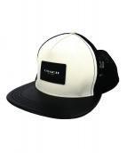 COACH(コーチ)の古着「ロゴメッシュキャップ」|ホワイト×ブラック