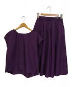 PLST × Domani(プラステ)の古着「スカートセットアップ」|パープル