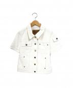 LOUIS VUITTON(ルイヴィトン)の古着「半袖デニムジャケット」|ホワイト