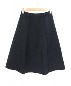 PRADA(プラダ)の古着「ボンディングフレアスカート」|ブラック
