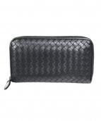 BOTTEGA VENETA(ボッテガヴェネタ)の古着「ラウンドファスナー長財布」|ブラック