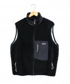 Patagonia(パタゴニア)の古着「90sレトロXフリースベスト」 ブラック