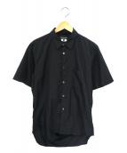 COMME des GARCONS HOMME PLUS(コムデギャルソンオムプリュス)の古着「バッグスリットシャツ」|ブラック