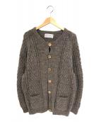 INVERALLAN(インバーアラン)の古着「4Aクルーネックカーディガン」|ブラウン