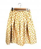 Demi-Luxe BEAMS(デミルクス ビームス)の古着「フラワータックフレアスカート」|オレンジ