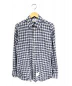 THOM BROWNE(トム ブラウン)の古着「チェックシャツ」|グレー×ブルー