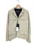 EMPORIO ARMANI(エンポリオアルマーニ)の古着「レザージャケット」|ベージュ