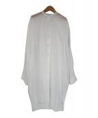 ARMEN(アーメン)の古着「バンドカラーガーゼシャツワンピース」|ホワイト