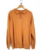 crepuscule(クレプスキュール)の古着「ビックシルエットニットポロシャツ」|オレンジ