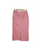 SCYEBASICS(サイベーシックス)の古着「UKキャンディーストライプセイラースカート」|ホワイト×レッド