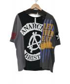 GLAMB(グラム)の古着「再構築Tシャツ」 ブラック×グレー
