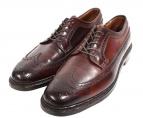 ALDEN(オールデン)の古着「旧ロゴコードバンウィングチップブーツ」 ブラウン