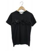 COMME des GARCONS COMME des GARCONS(コムデギャルソンコムデギャルソン)の古着「チュールフリルデザインTシャツ」|ブラック