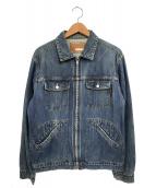 GOOD ENOUGH(グッドイナフ)の古着「ジップアップデニムジャケット」|インディゴ