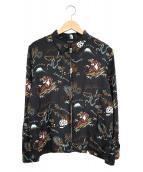 RUDE GALLERY(ルードギャラリ)の古着「東京ルードスカシルクブルゾン」|ブラック
