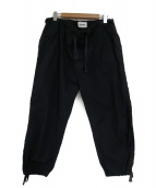 BEAMS BOY(ビームスボーイ)の古着「チャイナドローコードイージーパンツ」 ブラック