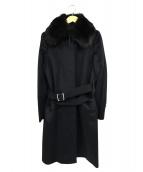 23区(ニジュウサンク)の古着「カシミヤ混ステンカラーコート」 ブラック