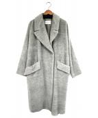 TOMORROWLAND(トゥモローランド)の古着「アルパカ混シャギーコクーンコート」|グレー