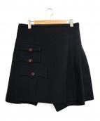 COMME des GARCONS HommePlus(コムデギャルソンオムプリュス)の古着「ポリ縮絨スカートドッキングハーフパンツ」|ブラック