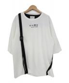 SHAREEF(シャリーフ)の古着「ベルト切替ビックTシャツ」 ホワイト