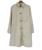 Stevenson Overall Co.(スティーブンソンオーバーオール)の古着「リネン混ショップコート」|ホワイト