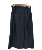 RAY BEAMS(レイビームス)の古着「アシメタックロングスカート」|ネイビー
