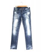 D&G(ディーアンドジ)の古着「縫製表出しダメージ加工ストレッチスキニーデニムパンツ」|インディゴ