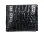 TAKEO KIKUCHI(タケオキクチ)の古着「型押し2つ折り財布」|ブラック