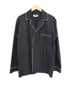 H BEAUTY&YOUTH(エイチ ビューティアンドユース)の古着「パジャマシャツ」|ブラック