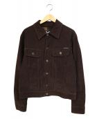 D&G(ディーアンドジ)の古着「コーデュロイトラッカージャケット」|ブラウン