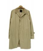 ato(アトウ)の古着「スリーブジップデザインラペル切替チェスターコート」|ベージュ