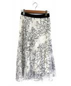 JOURNAL STANDARD(ジャーナルスタンダード)の古着「パイソンシフォンプリーツスカート」|ホワイト