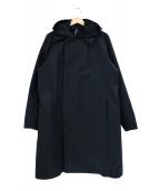 KAZUYUKI KUMAGAI ATTACHMENT(カズユキクマガイアタッチメント)の古着「ハイカウントラバークロスフード付コート」|ブラック