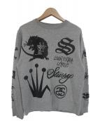 STUSSY(ステューシー)の古着「マルチロゴスウェット」|グレー