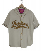 UNITED ARROWS & SONS(ユナイテッドアローズアンドサンズ)の古着「ウール混コットンベースボールシャツ」 ベージュ
