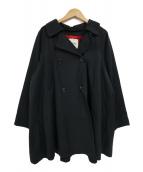 BEAMS BOY(ビームスボーイ)の古着「ツイル衿デタッチマント」 ブラック