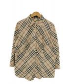 BURBERRY LONDON(バーバリーロンドン)の古着「ノバチェック7分袖シャツ」|ベージュ