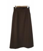 SLOBE IENA(イエナスローブ)の古着「ハイウエストタイトスカート」|ブラウン