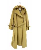ROPE mademoiselle(ロペマドモアゼル)の古着「ライナー付スパンツイルオーバートレンチコート」|ベージュ