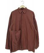 E.TAUTZ(イートーツ)の古着「ESMEシャツ」 ブラウン