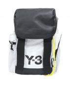 Y-3(ワイスリー)の古着「バックパック」 ブラック×ホワイト