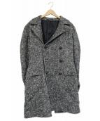 TAGLIATORE(タリアトーレ)の古着「シルク・アルパカ混ダブルチェスターコート」|グレー